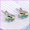 De mooie Manchetknopen van de Ontwerper van het Messing van het Plateren van de Bus Scherpe Zilveren