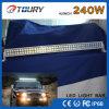 barra de intensidad alta combinada 4WD de la barra ligera LED de la viga LED de la inundación del punto 240W