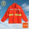 Uniforme reflexivo do tráfego do trabalho do Vis do OEM H, uniforme de serviço de limpeza com a fita reflexiva do Vis de H