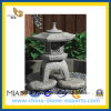 Grey naturale Granite Stone Lantern per il giardino di Outside