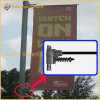 Via palo chiaro del metallo che fa pubblicità all'unità della bandierina (BT-BS-024)