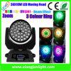 Tête mobile du lavage DEL de l'éclairage 36*18W RGBW 4in1 d'étape