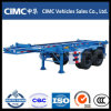 二重Axle 40FT Container Skeleton Semi Trailer
