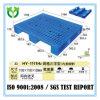 Pálete lisa perfurada do HDPE da plataforma inferior no tamanho L: 1100mm W: 1100mm