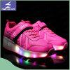 USB lumineux chargeant les chaussures légères de Jeux Olympiques de DEL