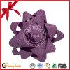 PVCきらめきのクリスマスの装飾のためのプラスチックリボンの星の弓