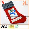 Qualitätsstickerei-/Applique-Weihnachtsdekoration-Schneemann im Fenster-Strumpf