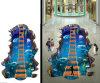 Kundenspezifische Grafik-Aufkleber-Ausgangsdekoration des Fußboden-3D