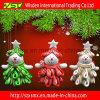 Decorazione operata del pupazzo di neve, ornamento promozionale di natale dei regali