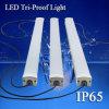 Iluminación PIR / microondas sensor LED Tri-Proof Luz impermeable Batten Luz