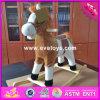 Лошадь для малышей, лошадь звука лошади 2017 оптовых продаж деревянная тряся самого лучшего сбывания деревянная тряся для малышей W16D090