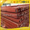 Codo de madera de la barandilla del grano 6063 T5