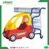 Chariot à achats d'enfant d'hypermarché avec le véhicule de gosses