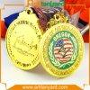 カスタマイズされた方法によってめっきされる金メダル