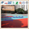 Suelo de goma de la cancha de básquet del Spu de la fuente de la fábrica/suelo de interior del baloncesto