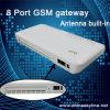 8 passagem da G/M VoIP Terminal/GSM VoIP da canaleta com antena interna