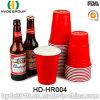 Чашка горячего красного цвета промотирования сбывания пластичного сольная для партии (HD-HR004)