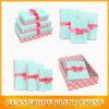 Conjunto del rectángulo de regalo del papel de embalaje de la decoración