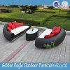 Meubles de sofa de jardin de meubles de rotin de PE de GV de patio