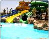 極度の螺線形のスライド水公園