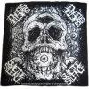 힙합 면 헤드 밴대나를 인쇄하는 주문을 받아서 만들어진 로고에 의하여 인쇄되는 두개골
