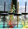 記憶および液体のためのハンドルおよびねじふたが付いているガラス製品のメーソンジャー