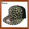 Casquillo del Snapback de la impresión del leopardo