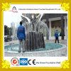 Fontana di acqua quadrata esterna con le sculture creative