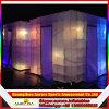 Cabina portable inflable de la foto, iluminación del LED que hace publicidad de la pared inflable del aire
