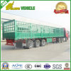 3 Ejes BPW Hoja de acero Spring Suspension Large Cage Trailer