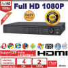 Высокое качество 4CH 1080P HD Sdi DVR 4CH Realtime Recording 4CH Playback 1u Case, 2SATA, 25 Language, 2 Years Warranty