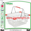 Plastic Corner Partsの二重Steel Wire Shopping Baskets