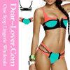Positionnement de bikini de vert de bloc de couleur de décor de fermeture éclair