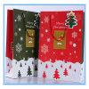 Bolso de compras de empaquetado del almacén del bolso del regalo del vario árbol de navidad de la buena calidad y del papel grande de la nieve con la maneta y la tarjeta de felicitación