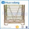 O animal de estimação dobrável do engranzamento de fio do armazenamento do metal do armazém pré-forma a gaiola do metal