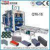 Bloc creux en béton Qt6-15 automatique, brique massive, machine de fabrication de paver de verrouillage