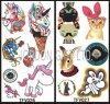 Agua-Transfer Customized Colorful Printing Body Tattoo Sticker para Promotional Gift
