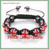 Armband van Shamballa van de Parels van het Bergkristal van de Vlag van de Juwelen van de manier de Britse (SBB067-27)