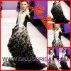 Gillis Bridal Co.、Ltd.3399が販売する独特な恋人のひだのオーガンザの人魚のこんにちはLoパーティー向きのドレスのプロムのイブニング・ドレスのウェディングドレス