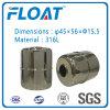Bola de acero inoxidable de la bola del flotador magnético para Flotante interruptor de nivel de agua (45 mm * 56 mm * 15,5 mm)