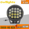 Auto Parts Black of Red 4X4 Accessories Round 9inch 90W LED Driving Lights voor Truck Tractor