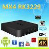 2016 boîte androïde Rk3229 de l'androïde 4.4 Mx4 Ott TV du noyau 1GB/8GB de quadruple de la boîte Mx4 4k Rk3229 de TV
