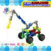 Kind-Plastiktischplattenspielzeug, das Auto-Bausteine einschiebt