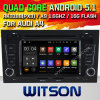 Carro DVD GPS do Android 5.1 de Witson para Audi A4/S4/RS4 (2002-2008) com sustentação do Internet DVR da ROM WiFi 3G do chipset 1080P 16g (A5764)