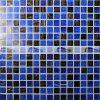 Escuro - mosaico de vidro da mistura azul para a telha da piscina (BGE006)
