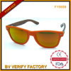 F15939 Mirrored Lens Custom Sunglasses mit Bamboo Temples
