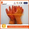 Померанцовый PVC нейлона окуная перчатки Dnl511 перчатки работая