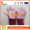 Gant rouge Dgk101 de poignet de Knit de coton rose