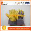 Ddsafety 2017 желтых перчаток PVC с задней частью нашивки