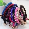 De meisjes vormen de Wevende Knoop Elastische Hairbands van de Parel van het Metaal (JE1542)
